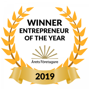Entrepreneur of year Arets Foretagare 2019